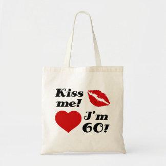Kiss Me, I'm 60! Tote Bags