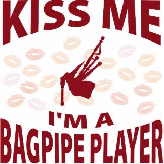 Kiss Me I'm A Bagpipe Player Photo Sculpture Ornament