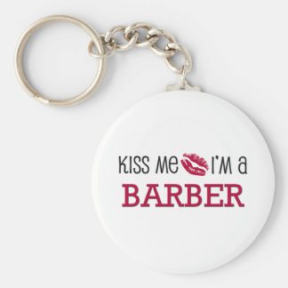 Kiss Me I'm a BARBER Key Chain