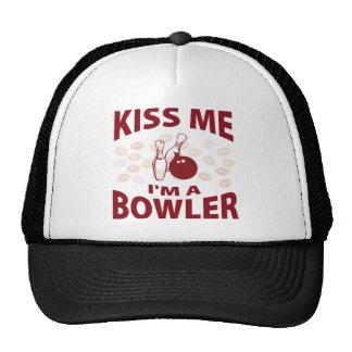 Kiss Me I'm A Bowler Trucker Hat