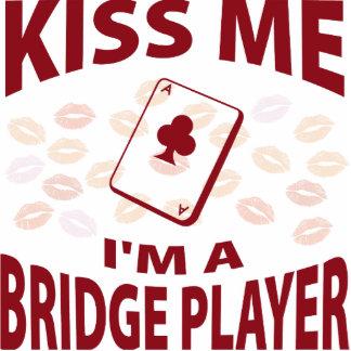 Kiss Me I'm A Bridge Player Photo Sculpture Ornament