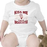 Kiss Me I'm A Broadcaster Bodysuit