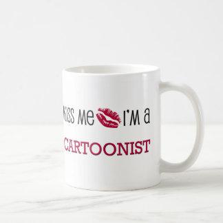Kiss Me I'm a CARTOONIST Classic White Coffee Mug