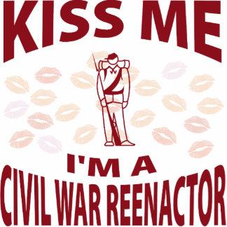 Kiss Me I'm A Civil War Reenactor Photo Sculpture Ornament