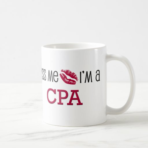 Kiss Me I'm a CPA Classic White Coffee Mug