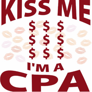Kiss Me I'm A CPA Photo Sculpture Ornament