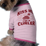 Kiss Me I'm A Curler Dog Clothing