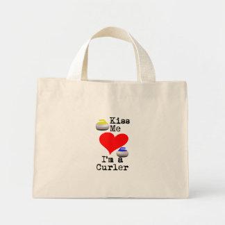 Kiss me I'm a Curler Mini Tote Bag