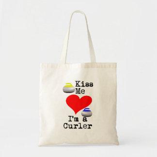 Kiss me I'm a Curler Tote Bag