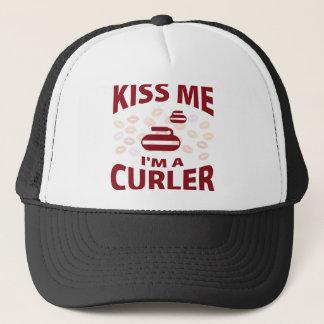 Kiss Me I'm A Curler Trucker Hat