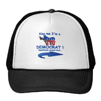 Kiss Me I'm A Democrat Mesh Hats