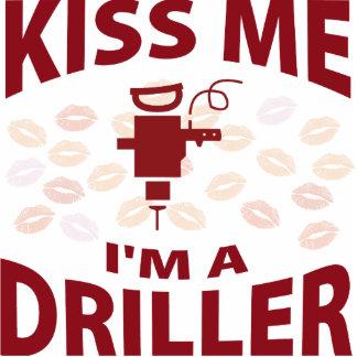 Kiss Me I'm A Driller Photo Sculpture Ornament