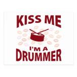 Kiss Me I'm A Drummer Postcard