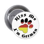 Kiss Me I'm A German Sheppard 2 Inch Round Button