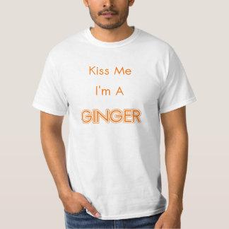 Kiss Me I'm A Ginger Tee Shirt
