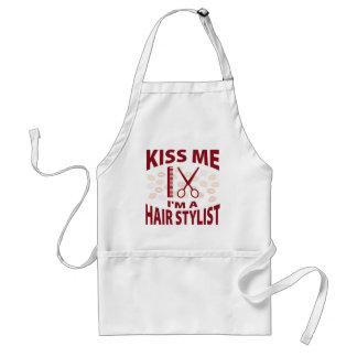 Kiss Me I'm A Hair Stylist Adult Apron