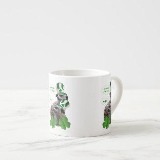 Kiss me I'm a Irish meerkat design Espresso Cup