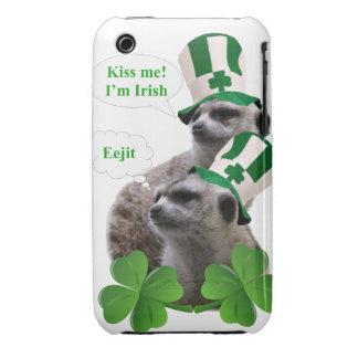 Kiss me I'm a Irish meerkat design iPhone 3 Case-Mate Case