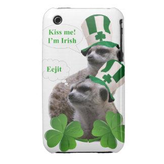 Kiss me I'm a Irish meerkat design iPhone 3 Cover