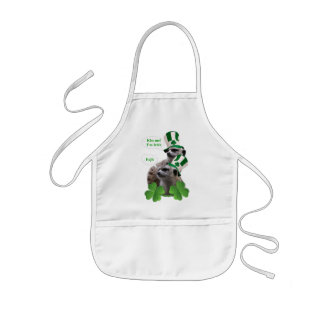 Kiss me I'm a Irish meerkat design Kids' Apron