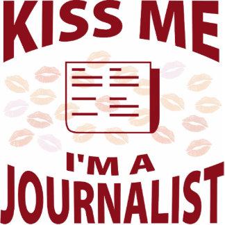 Kiss Me I'm A Journalist Photo Sculpture Ornament