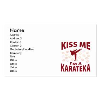 Kiss Me I'm A Karateka Business Cards