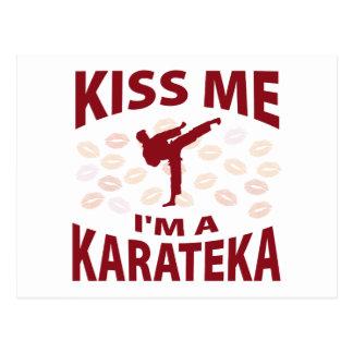 Kiss Me I'm A Karateka Postcard
