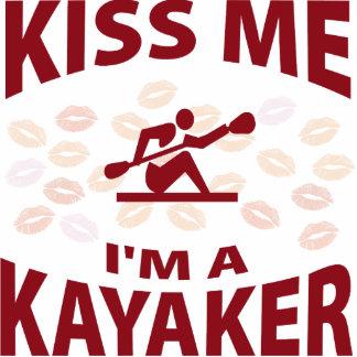 Kiss Me I'm A Kayaker Photo Sculpture Ornament
