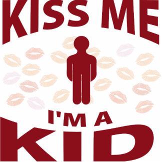 Kiss Me I'm A Kid Photo Sculpture Ornament