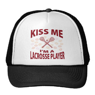 Kiss Me I'm A Lacrosse Player Trucker Hat