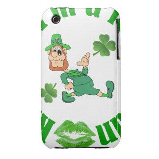 Kiss me I'm a leprechaun iPhone 3 Cases