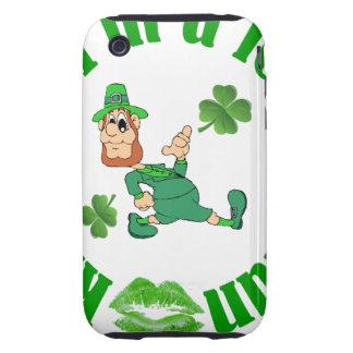 Kiss me I'm a leprechaun Tough iPhone 3 Cover