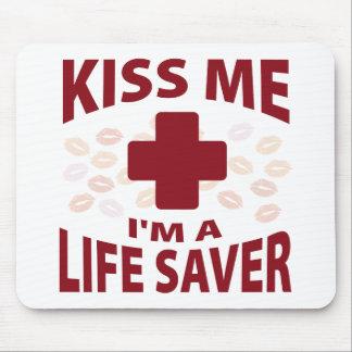 Kiss Me I'm A Life Saver Mouse Pad