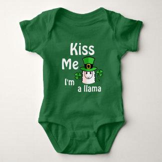 Kiss Me, I'm a Llama Baby Bodysuit