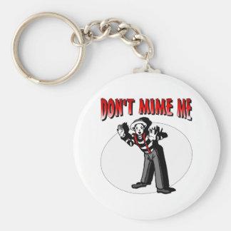 Kiss Me I'm A Mime Keychain