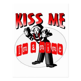 Kiss Me I'm A Mime Postcard