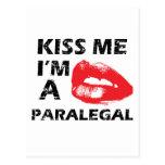 Kiss me i'm a paralegal post card