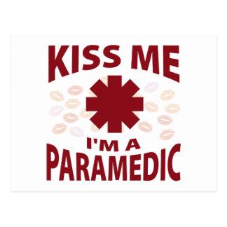 Kiss Me I'm A Paramedic Postcard