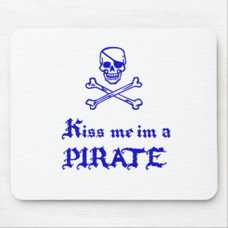 Kiss Me im a Pirate Mouse Pad