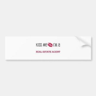 Kiss Me I'm a REAL ESTATE AGENT Bumper Sticker