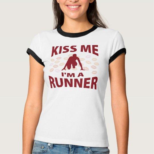 Kiss Me I'm A Runner T-Shirt