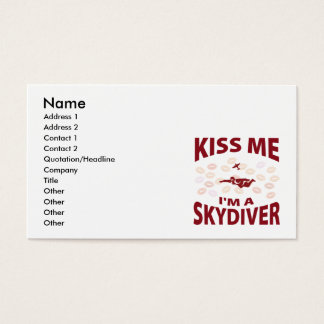 Kiss Me I'm A Skydiver Business Card