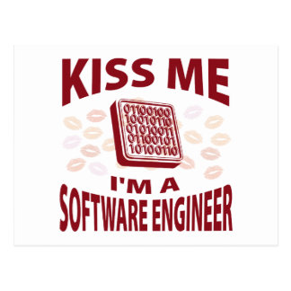 Kiss Me I'm A Software Engineer Postcard
