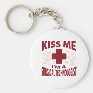 Kiss Me I'm A Surgical Technologist Basic Round Button Keychain