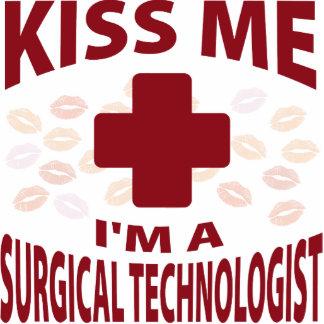 Kiss Me I'm A Surgical Technologist Photo Sculpture Ornament