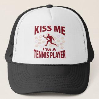 Kiss Me I'm A Tennis Player Trucker Hat