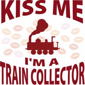 Kiss Me I'm A Train Collector Photo Sculpture Ornament