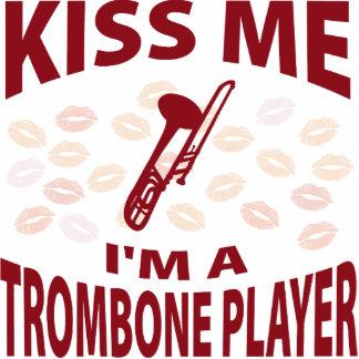 Kiss Me I'm A Trombone Player Photo Sculpture Ornament