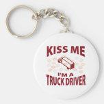 Kiss Me I'm A Truck Driver Keychain