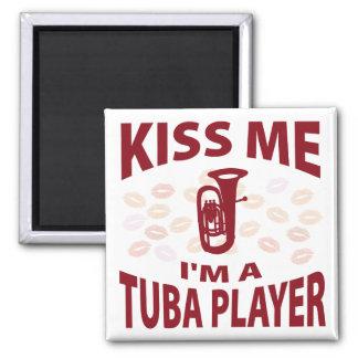 Kiss Me I'm A Tuba Player Magnets